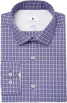 Ryan Seacrest Distinction Men's Slim-Fit Stretch Non-Iron Performance Check Dress Shirt, Created for Macy's