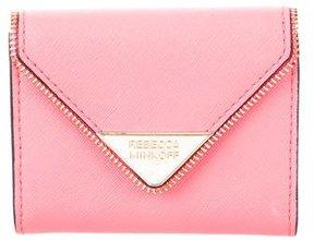 Rebecca Minkoff Saffiano Compact Wallet - ORANGE - STYLE