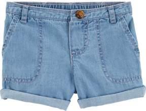 Carter's Baby Girl Chambray Roll Cuff Shorts