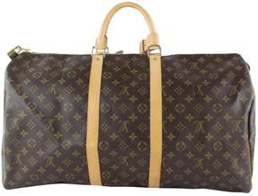 Louis Vuitton Keepall Brown Cloth Travel Bag