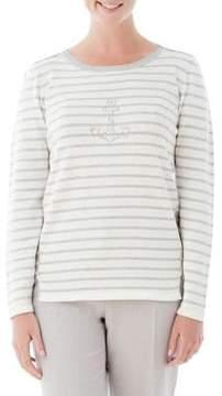 Olsen Anchor Stripe Sweater
