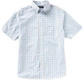 Roundtree & Yorke Untucked Short-Sleeve Checked Sportshirt
