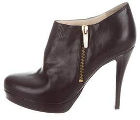 Max Mara Leather Platform Booties