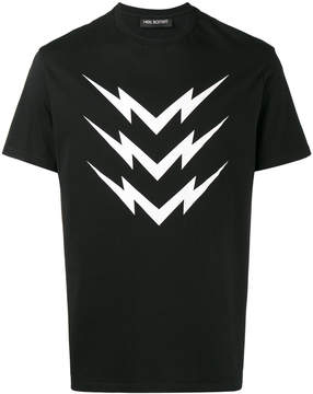 Neil Barrett mirror bolt print t-shirt