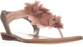 Material Girl Mg35 Sari Flower T-strap Sandals, Light/pasterl Pink.