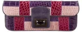 Kara Ross Alligator & Lizard Dea Clutch