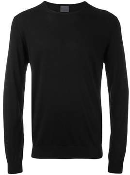 Laneus Men's Black Silk Sweater.