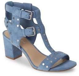 Saks Fifth Avenue Leena Block-Heel Suede Sandals