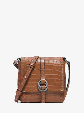 Michael Kors Julie Crocodile Crossbody - BROWN - STYLE