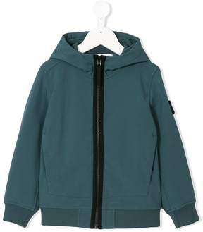 Stone Island Junior zipped front hoodie