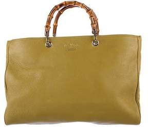 Gucci Large Bamboo Shopper - GREEN - STYLE