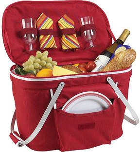 Picnic at Ascot Collapsible Insulated Picnic Basket for Two