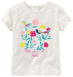 Osh Kosh Toddler Girl Enjoy The Little Things Graphic Tee