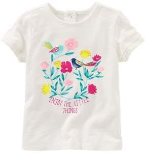 Osh Kosh Toddler Girl Enjoy The Little Things Graphic Tee