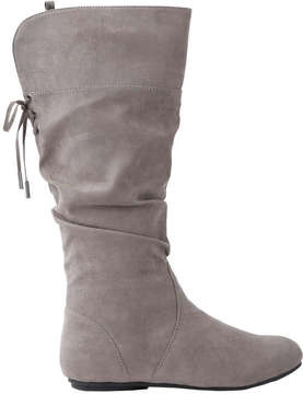 Joe Fresh Kid Girls' Ruched Boots, Grey (Size 12)