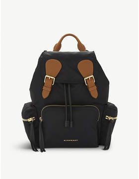Burberry Medium nylon backpack - BLACK - STYLE