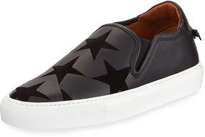 Givenchy Star Leather Platform Sneaker, Black