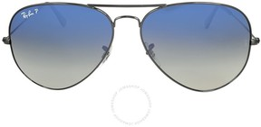 Ray-Ban Aviator Blue Gradient Polarized Lens Sunglasses RB3025-004-78-62