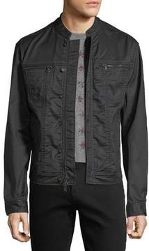John Varvatos Denim-Style Zip-Front Jacket