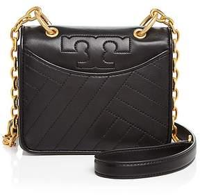 Tory Burch Alexa Mini Leather Shoulder Bag - BLACK/GOLD - STYLE