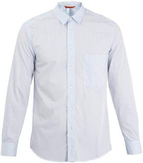 Barena VENEZIA Striped single-cuff point-collar cotton shirt