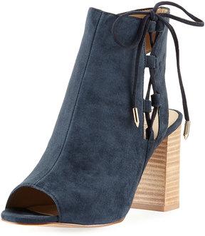 Neiman Marcus Bryana Lace-Up Suede City Sandal