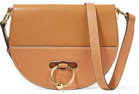 J.W.Anderson Latch Smooth And Textured-leather Shoulder Bag - Tan