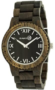 Earth Bighorn Collection ETHEW3502 Unisex Wood Watch with Wood Bracelet-Style Band