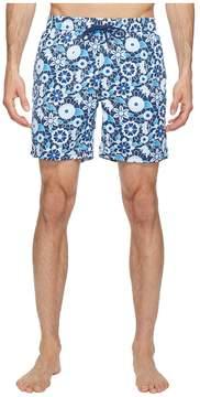 Mr.Swim Mr. Swim Lace Floral Printed Dale Swim Trunk Men's Swimwear