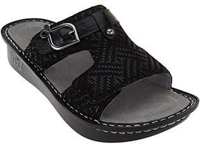 Alegria As Is Leather Adj. Slide Sandals - Peggy