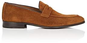 Barneys New York MEN'S SUEDE PENNY LOAFERS