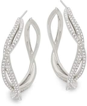 Adriana Orsini Women's Helix Cubic Zirconia Hoop Earrings