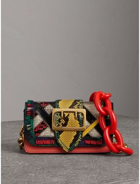 Burberry The Patchwork in Exotics and Fringed Cotton - ORANGE RED - STYLE