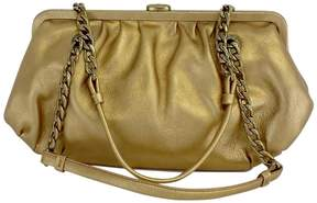 Michael Kors Gold Chain Strap Leather Handbag - GOLD - STYLE