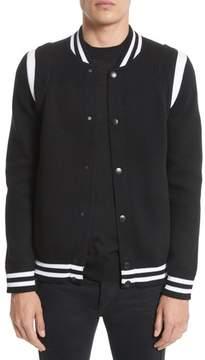 Men's Givenchy Logo Back Knit Bomber Jacket