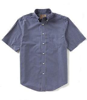 Roundtree & Yorke Gold Label Short-Sleeve Checked Non-Iron Sportshirt