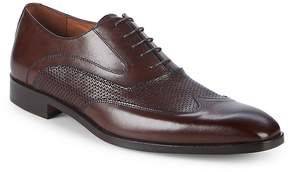 Matteo Massimo Men's Leather Wingtip Oxfords