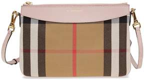 Burberry Horseferry Check Leather Clutch - Pale Orchid