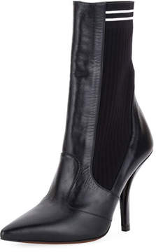 Fendi Polished 105mm Sock Bootie, Black