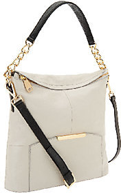 Marc Fisher Cora Leather Convertible Zip Top Hobo