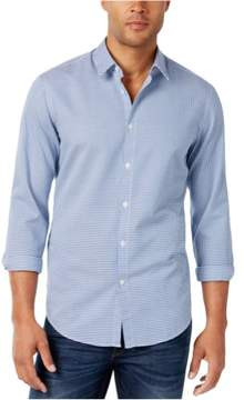 HUGO BOSS Mens C-Briar Geo Button Up Shirt Blue L