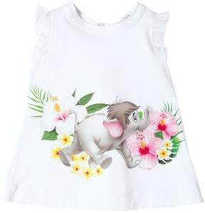 MonnaLisa Jungle Book Print Cotton Jersey T-Shirt
