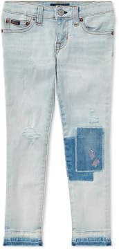 Polo Ralph Lauren Embroidered Skinny Jeans, Toddler Girls