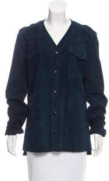 Timo Weiland Leather Button-Up Jacket