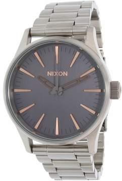 Nixon Men's Sentry 38 A4502064 Silver Stainless-Steel Quartz Dress Watch