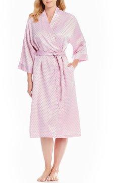 Cabernet Satin Dot Jacquard Robe