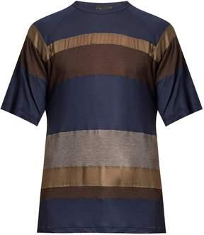 Kolor Contrast-panel cotton-blend T-shirt