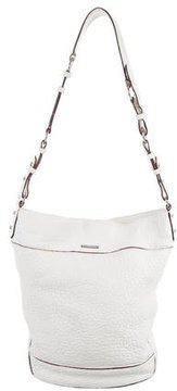 Rebecca Minkoff Leather Bucket Bag - WHITE - STYLE