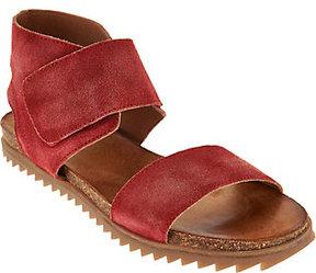 Miz Mooz As Is Suede Ankle Wrap Sandals - Rori