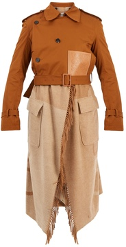 Loewe Layered double-breasted trench coat